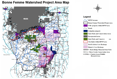 Bonne Femme watershed Project Area